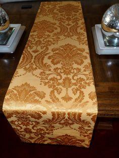 Reversible Shimmery Gold Table Runner By DorethaRoseDesigns, $35.00