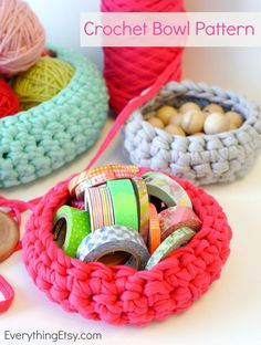 These ten crochet baskets, with free patterns, are great for small-scale storage.