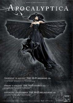 Apocalyptica Australian Tour - Details at http://www.bombshellzine.com/blog/2012/06/apocalyptica-announce-australian-tour-dates/