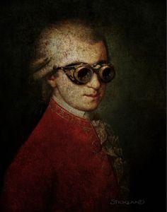 Saatchi Online Artist - Paul Stickland - Steampunk Mozart #art #steampunk #mozart #strangestore