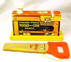 Vintage Fisher Price 1965 Pound Saw Bench 728 | eBay
