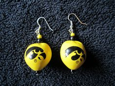 Hey, I found this really awesome Etsy listing at https://www.etsy.com/listing/107848589/iowa-hawkeyes-heart-earrings