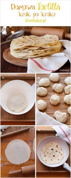 How to make tortillas – step by step – Mexican Recipe How To Make Tortillas, Tortilla Recipe, Mexican Food Recipes, Pancakes, Good Food, Food Porn, Food And Drink, Bread, Baking