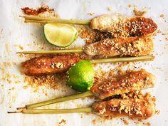 Kycklingspett på citrongräs | Recept.nu