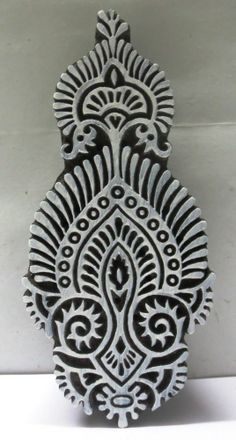 INDIAN WOODEN HAND CARVED TEXTILE PRINTING ON FABRIC BLOCK STAMP FINE UNIQUE Textile Printing, Printing On Fabric, Tribal Patterns, Print Patterns, Make Your Own Stamp, Stamp Carving, Indian Fabric, Wood Stamp, Wooden Hand