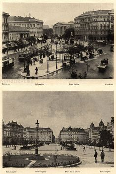 Place Calvin and Freedom square, Hungary Budapest, Central Europe, Hungary, Old Photos, Austria, Freedom, The Past, Louvre, Antiques