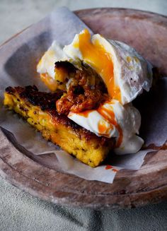 Yotam Ottolenghi's Fried Upma with Poached Egg