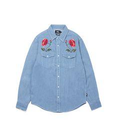 Купите Stussy Poppy Denim Shirt Light Blue Stussy в знаменитом онлайн-бутике ITKKIT - всего за 125 RUB. Быстрая доставка последних новинок от Stussy.