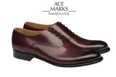 Medallion-toe Oxford in Devil Red burnished leather. The feel of the leather is soft and ultra luxurious. ‪#‎luxury‬ ‪#‎acemarks‬ ‪#‎medalliontoe‬ ‪#‎oxford‬ ‪#‎handcrafted‬ ‪#‎handmade‬ ‪#‎burnishedleather‬ ‪#‎madeinitaly‬ ‪#‎mensshoes‬ ‪#‎artisanal‬ ‪#‎fancy‬ ‪#‎stylish‬ ‪#‎handsome‬ ‪#‎men‬ ‪#‎fashion‬ ‪#‎swagger‬ ‪#‎moderndayclassic‬