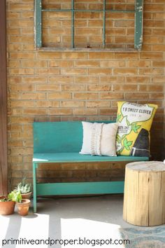 Thirty fabulous spring decorating ideas for every room in your home. inspiration from the Spring Parade of Homes. Turquoise Furniture, Desk Nook, Shed Makeover, Outdoor Sofa, Outdoor Decor, Primitive Homes, Austin Homes, Parade Of Homes, Spring Home