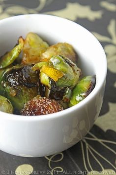 Sautéed Brussels sprouts with caramelised garlic, lemon & chilli - Cooksister | Food, Travel, Photography