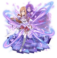 Asuna y Yuki Arte Online, Online Art, Sword Art Online Yuuki, Desenhos Love, Kirito Asuna, Online Anime, Pictures Online, Anime Shows, Kawaii Anime