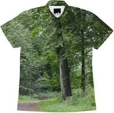 Lush Green Forest Shirt from Print All Over Me #sold #printalloverme