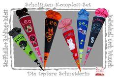 Schultüten-Set, Stoffhülle+Rohling+Kisseninlett von Die tapfere Schneiderin, handmade with love ... by Viola auf DaWanda.com