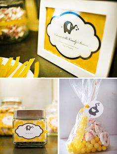 Baby Nash wants a vintage yellow and grey elephant baby party...I'm trying ;)