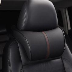 調整可能な車のヘッドレスト首枕leahter自動首保護残り枕クッション用シートカバーアクセサリーメモリ綿