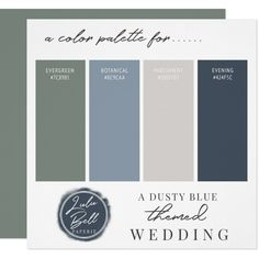 Shop Dusty Blue Green Navy & Gray Color Palette Card created by GraphicBrat. Personalize it with photos & text or purchase as is! Paint Color Schemes, Blue Color Schemes, House Color Schemes Interior, Basement Color Schemes, Blue Color Combinations, Kitchen Color Schemes, Neutral Color Scheme, Color Schemes For Office, Kitchen Color Combination