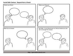 Cartoon Strip Social Interactions: A Social Skills Cartoon