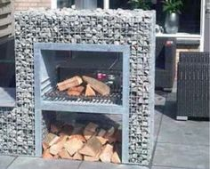Outdoor Rooms, Outdoor Living, Outdoor Decor, Barbacoa, Brick Grill, Awning Shade, Outside Fireplace, Barbecue Design, Earthship Home