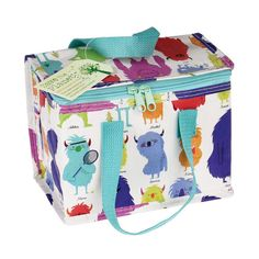 Send your little monsters off to school with this fun and colourful Monsters of the World foil insulated lunch bag. This lunch bag simply wipes clean and is made from recycled plastic bottles. Size approximately x x Lunch Snacks, Lunch Box, Childrens Lunch Bags, Mens Lunch Bag, Online Gift Shop, Insulated Lunch Bags, Recycle Plastic Bottles, Baby Shop, Cleaning Wipes