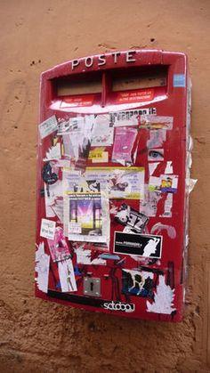 Boite postale, Trastevere, Rome, Italie