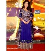 madhuri-dixit-blue-long-anarkali-suit