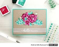 Color Layering For You Flowers is a Hero Arts collection of Clear Design Stamps featuring flowers and notes. Layer colors to create beautiful and unique stamped cards and crafts. Our Clear Design S…