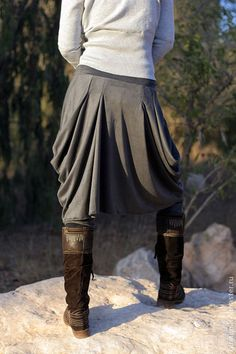 Boho stylish harem pants and skirt together with by lunalin, $105.00