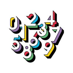 Wonderful Number Typography Makes Clever Use Of Negative Space - DesignTAXI.com