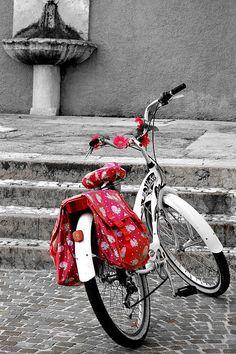 Una Bicicletta A Riva Del Garda Poster By Martina Fagan