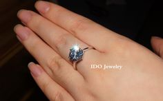 Luxury 925 silver Ring with gold plated 4 carat round NSCD Diamond crystal engagement ring for women 2014 certificate offer-in Rings from Jewelry on Aliexpress.com | Alibaba Group