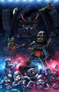 Star Wars - Dark Side Party by Nikita Kokarev Star Wars Fan Art, Star Trek, 6 Chakra, Star Wars Pictures, Star Wars Wallpaper, Star Wars Humor, Film Music Books, Clone Wars, Far Away