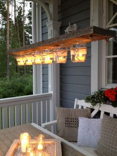 Native American Decor, Rustic Patio, Yard Furniture, Diy Cans, Outdoor Dining, Outdoor Decor, Outside Decorations, Cottage Design, Outdoor Lighting