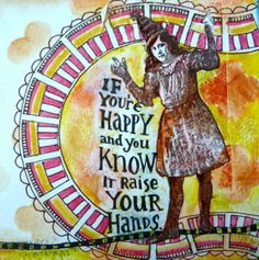 Mixed Media Art Journal page by Janet Joehlin using StencilGirl stencils and Lost Coast Designs Rubber Stamps.