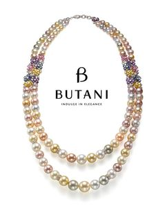 Natural South Sea Pearls with Sapphires #Butani #ButaniJewellery #Necklace