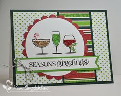 VERY Merry Greetings by atsamom, via Flickr. For the Merry Monday sketch challenge.  Stamps by Stampin' Up.