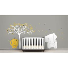 Found it at Wayfair - Mural Baby Zoo Wall Decal