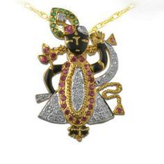 http://www.allyoursjewels.com/shreenathji-diamond-pendant/ Made in Real Diamond and 18 kt yellow & white gold.Customize As per your Style and Budget.Get Exact Diamond Quality and weight.