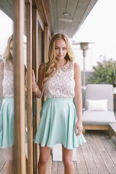 Enjoy the summertime in vintage-inspired tops and darling skirts. #shopruche #ruche