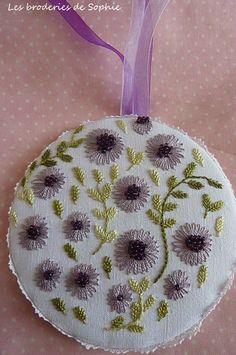 Echinacea pour Coco - Les Broderies de Sophie