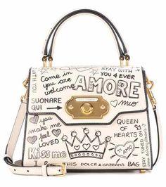 Dolce & Gabbana Dolce E Gabbana Women's Beige/White Leather Handbag Clear Handbags, Pink Handbags, Vintage Handbags, Fashion Handbags, Tote Handbags, Luxury Handbags, Tote Purse, Fashion Bags, Luxury Purses
