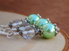 Mint Green Bridesmaid Necklace light green by SheJustSaidYes, $17.00