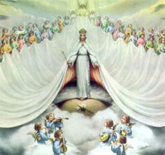 """""""La Virgen Inmaculada ... asunta en cuerpo y alma a la gloria celestial fue ensalzada por el Señor como Reina universal,con el fin de que se asemejase de forma más plena a su Hijo, Señor de señores y vencedor del pecado y de la muerte"""". (Conc. Vat...."""