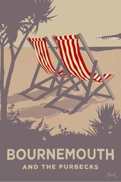 Bournemouth Red Deckchairs