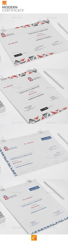 #Modern #Certificate v2 - Certificates #Stationery Download here: https://graphicriver.net/item/modern-certificate-v2/11417367?ref=alena994