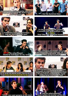 Paul Wesley- OMG  the last one on the right killed me. I laughed so hard.