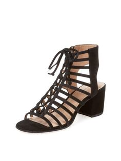Amabelle Lace-Up Suede Sandal by Pour La Victoire at Gilt