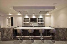Modern Home Bar Furniture Ideas Modern Basement, Basement Kitchen, Basement  Bars, Rustic Basement