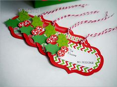 Christmas tags by Regina