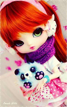 Miyu loves her panda - by Amanda White on Flickr -- Yeolume doll